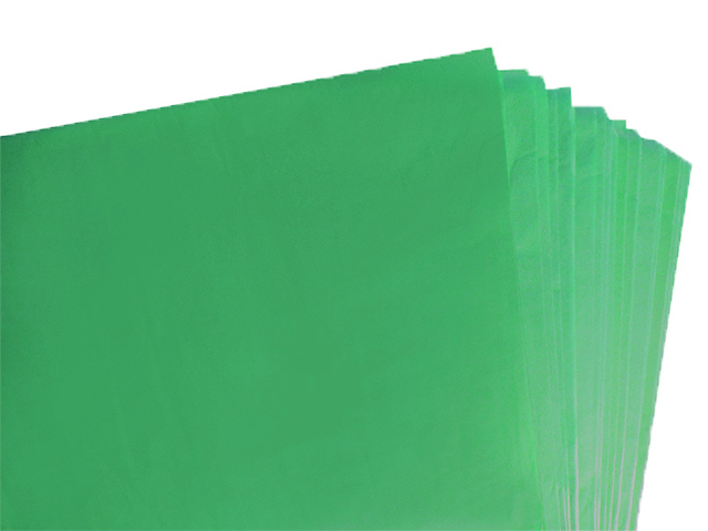 100 Sheets of Dark Green Coloured Acid Free Tissue Paper 500mm x 750mm ,18gsm